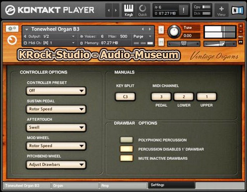 Native Instruments Vintage Organs KONTAKT DVDR - Audio-Museum -